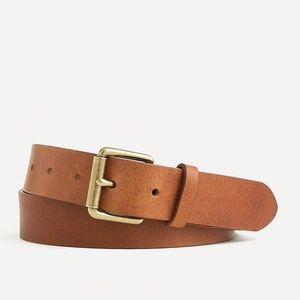 New J.CREW Mens Roller-buckle Italian Leather Belt